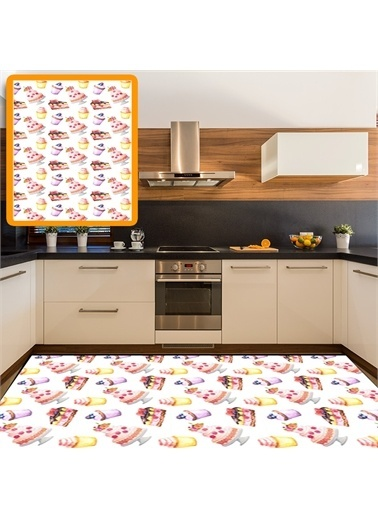 Halı Kahveli Modern Mutfak Halıları 80X150Cm Renkli